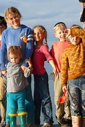 Семейного лагеря на обском море