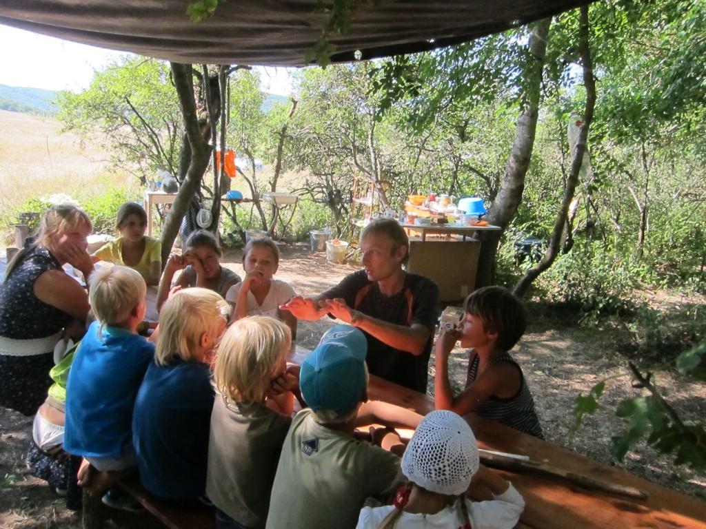 Занятия в лагере Перелетной школы